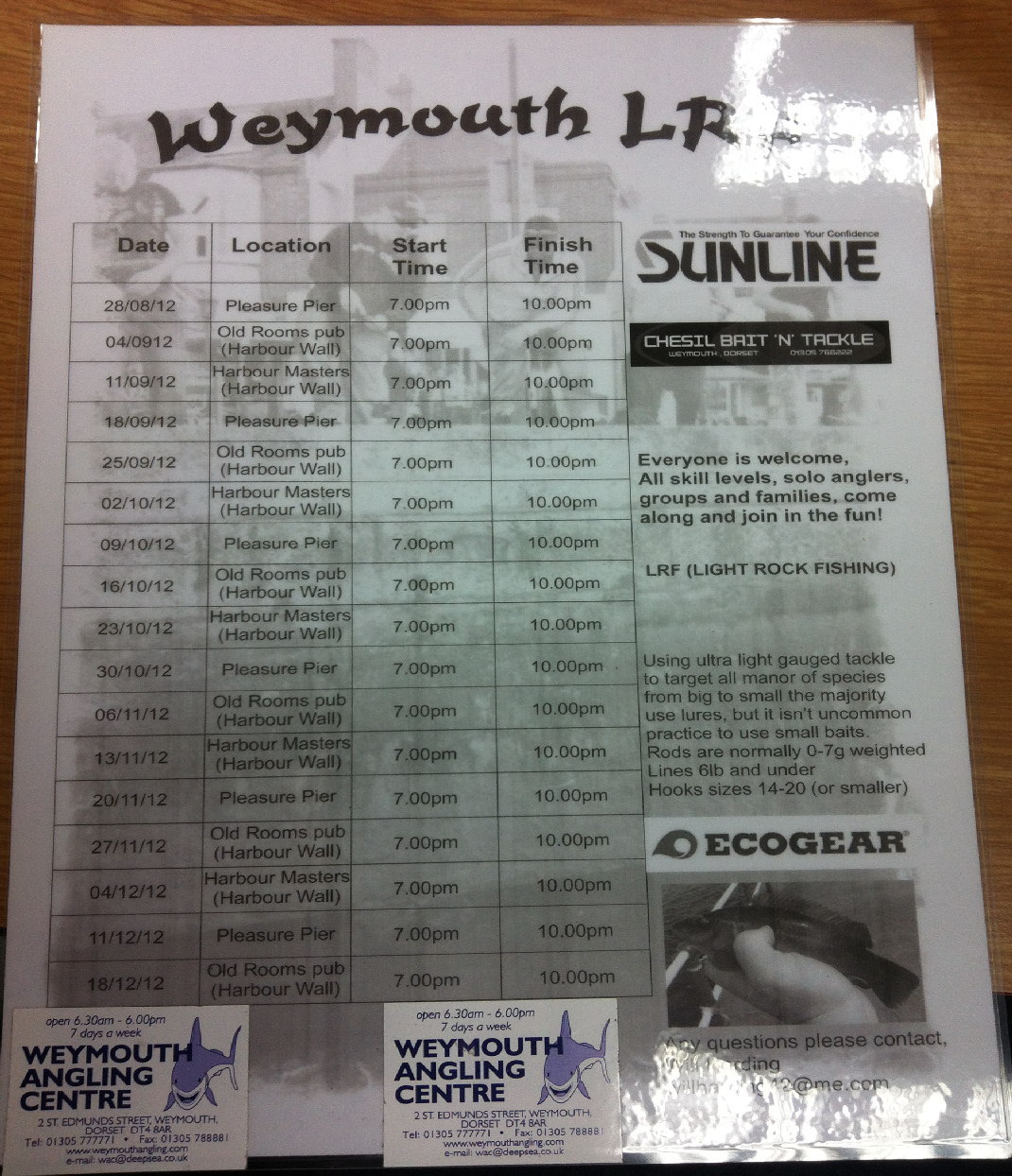 Weymouth LRF Meets