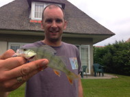 Catching Perch in our Garden