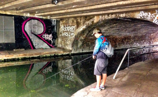 Fishing Regents Canal Camden