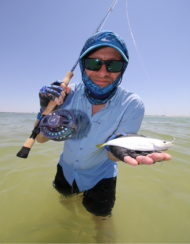 Leatherjacket Fish On The Fly