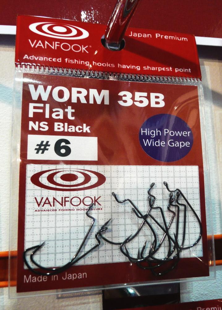 Vanfook Worm 35B Flat Offset Hooks