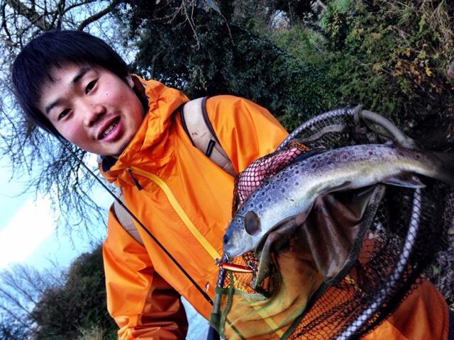 Masaaaki Fukuoka with Trout