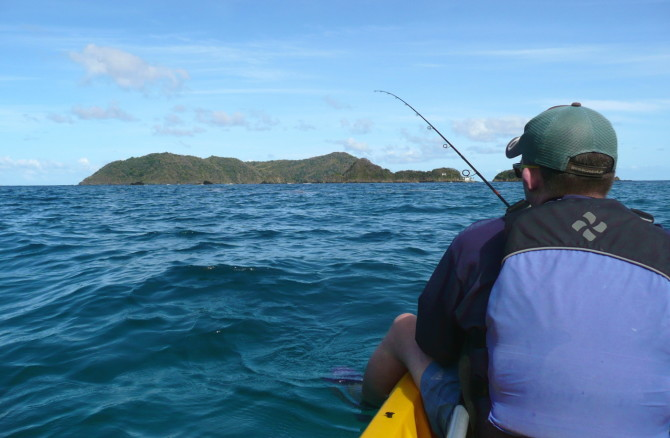 Kayak Fishing at Blue Waters Inn