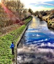 Fishing Frozen Canal